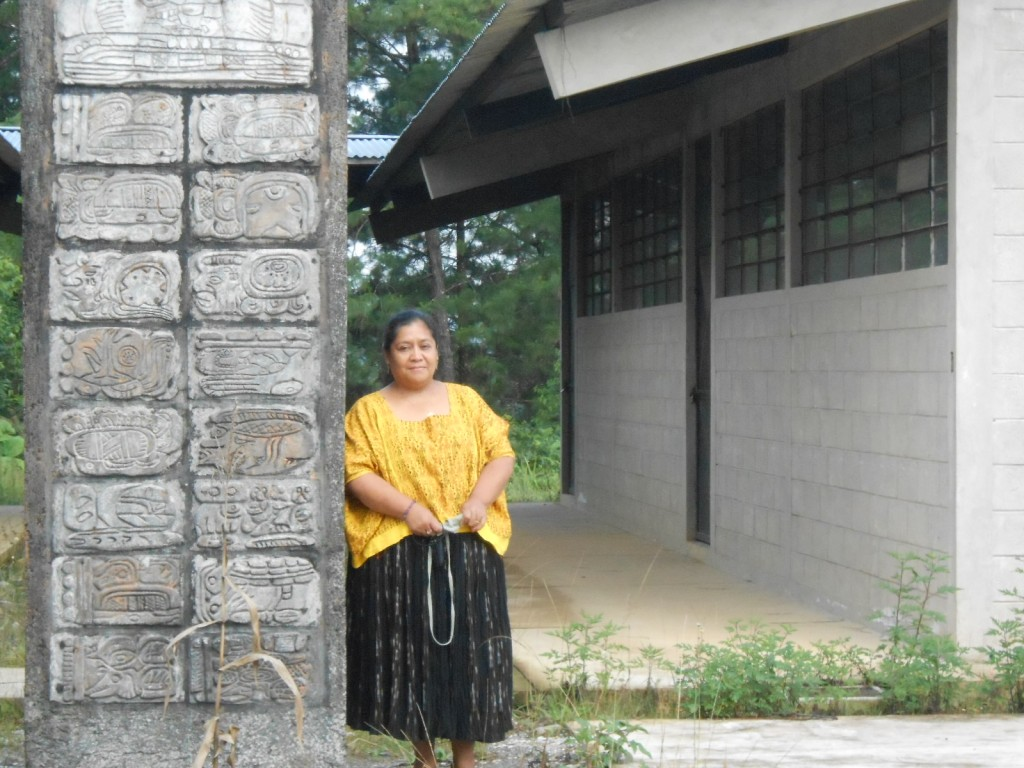 "The same school teacher, MAM colleague Marina Rosales de Caal, was part of a team erecting a stela to inaugurate ""Instancia del Pueblo Maya Q'eqchi' y Pokomchi"" also in Coban."