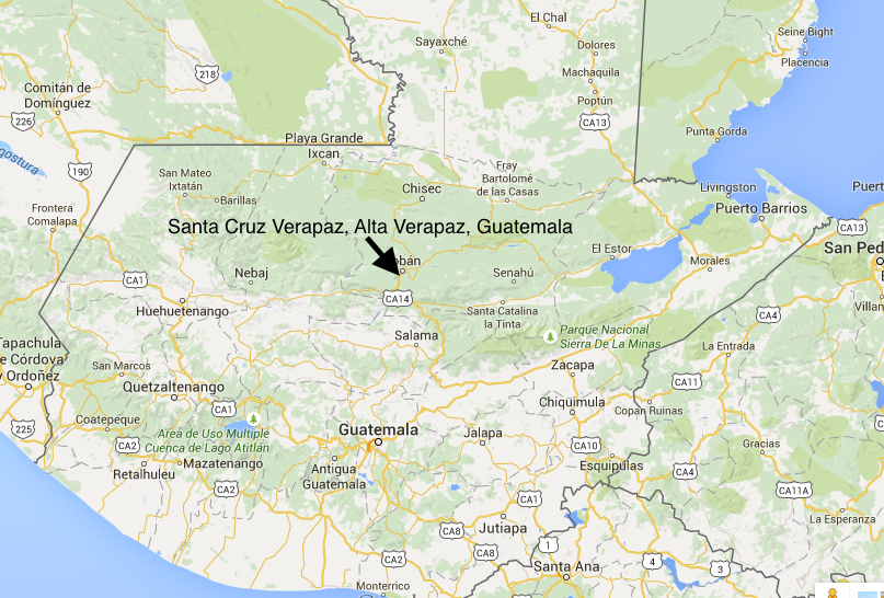 Location of Santa Cruz Verapaz