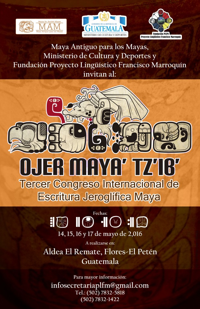 Invitation designed by the Maya organizers of the Maya Congress
